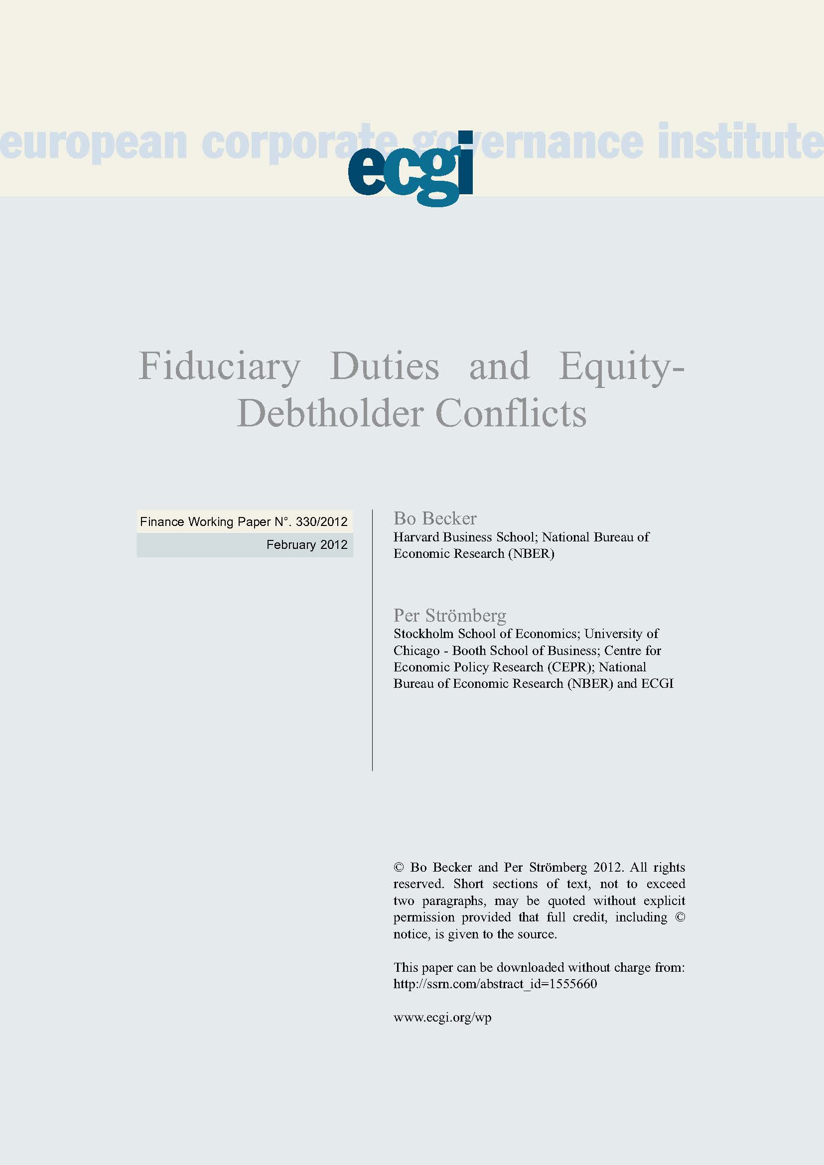 Essay: The duties of the fiduciary