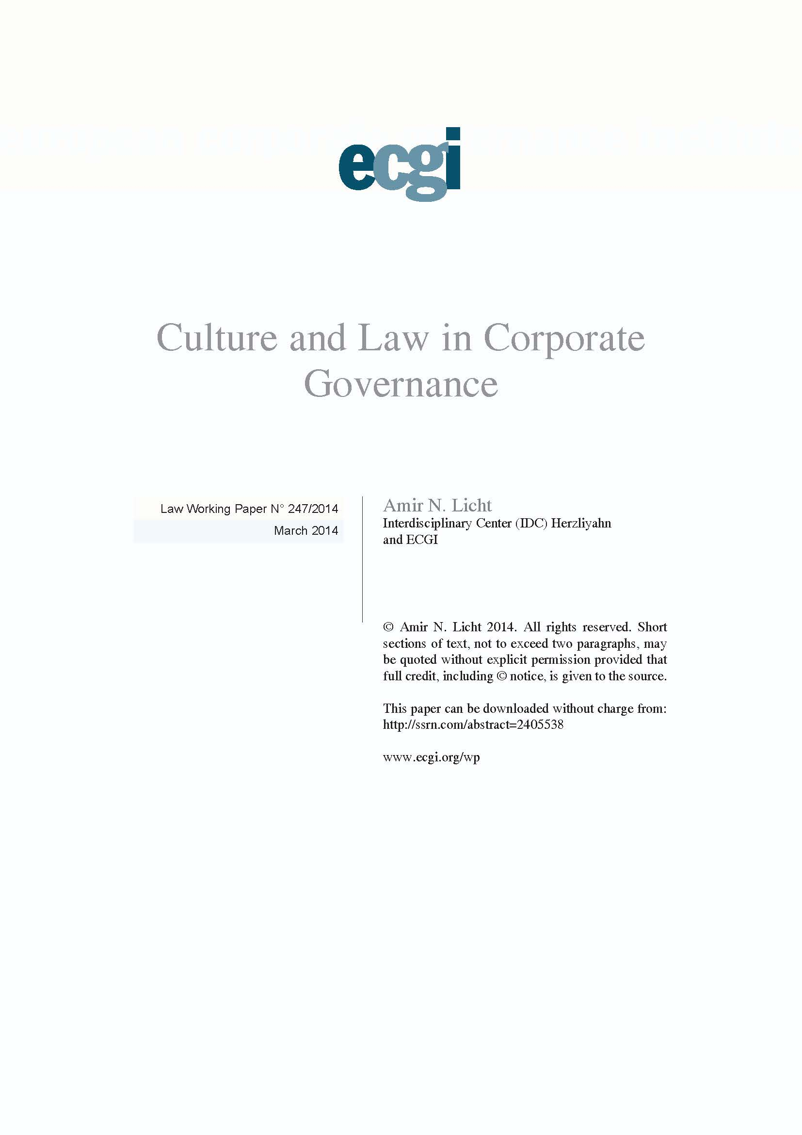 corporate law and governance Corporate governance refers to a set of processes, customs, policies, and laws by which a corporation is directed, administered or controlled it is a generic term which describes the ways in which.
