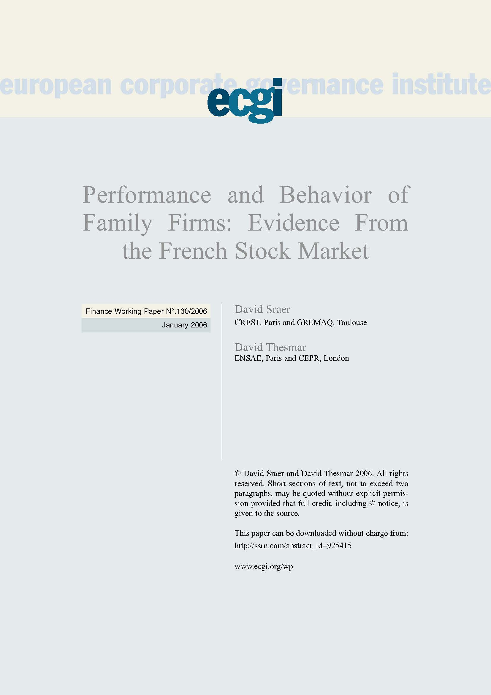 Stock options and firm performance new evidence from the french market